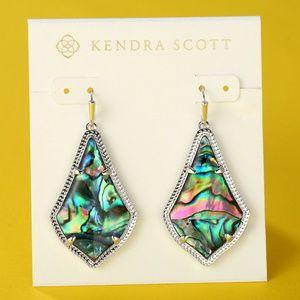 New Kendra Scott Alex Silver Abalone Shell